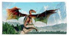 Perched Dragon Bath Towel
