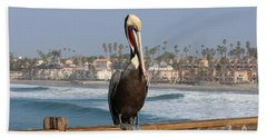 Perched On The Pier Bath Towel