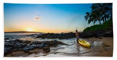 Perfect Ending - Beautiful And Secluded Secret Beach In Maui Bath Towel