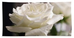 Perfect White Rose Bath Towel