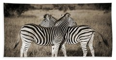 Perfect Zebras Hand Towel by Delphimages Photo Creations