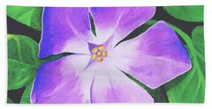 Hand Towel featuring the painting Periwinkle by Sophia Schmierer