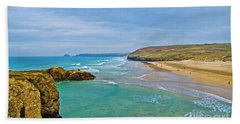 Perranporth Beach Hand Towel
