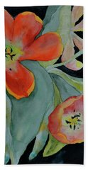 Bath Towel featuring the painting Persevere by Beverley Harper Tinsley