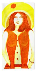 Hand Towel featuring the painting Personas 1 by Lorna Maza