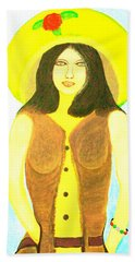 Hand Towel featuring the painting Personas 2 by Lorna Maza