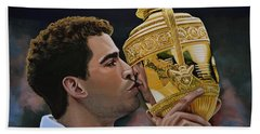 Pete Sampras Hand Towel by Paul Meijering