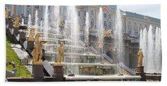 Peterhof Palace Fountains Hand Towel