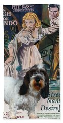 Petit Basset Griffon Vendeen Art Canvas Print - A Streetcar Named Desire Movie Poster Hand Towel