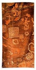 Petroglyph Symbols Hand Towel by Phyllis Denton