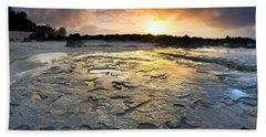 Petroglyphic Sunset Bath Towel