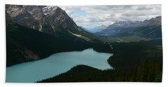 Peyote Lake In Banff Alberta Bath Towel