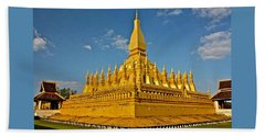 Temple Of Pha That Luang Laos Hand Towel