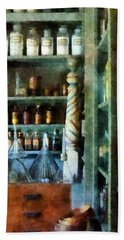 Bath Towel featuring the photograph Pharmacy - Back Room Of Drug Store by Susan Savad