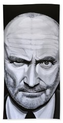 Phil Collins Hand Towel by Paul Meijering