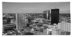 Philadelphia - A View Across The Schuylkill River Hand Towel by Rona Black