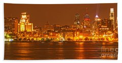 Philadelphia Across The Delaware Hand Towel by Adam Jewell