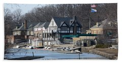 Philadelphia - Boat House Row Hand Towel by Cindy Manero