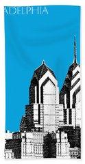 Philadelphia Skyline Liberty Place 1 - Ice Blue Hand Towel