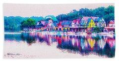 Philadelphia's Boathouse Row On The Schuylkill River Hand Towel
