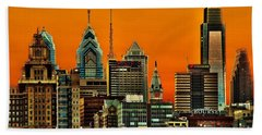 Philly Sunset Hand Towel