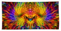 Hand Towel featuring the painting Phoenix Rising  by Jalai Lama
