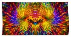 Bath Towel featuring the painting Phoenix Rising  by Jalai Lama