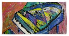 Piano Blue Bath Towel