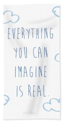 Picasso Quote Bath Towel