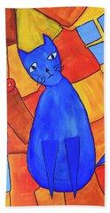 Picasso's Blue Cat Hand Towel