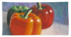 Pick A Pepper Hand Towel by Laurie Morgan