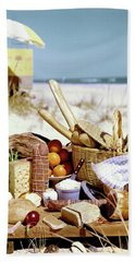 Picnic Display On The Beach Bath Towel