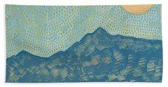 Picuris Mountains Original Painting Bath Towel