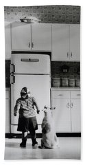 Pie In The Sky In Black And White Hand Towel