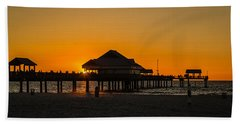 Pier 60 Sunset Hand Towel