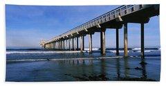 Pier In The Pacific Ocean, Scripps Hand Towel