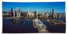 Pier On A Lake, Navy Pier, Chicago Bath Towel