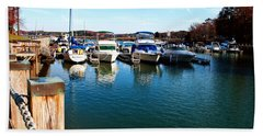 Pier Pressure - Lake Norman Hand Towel by Paulette B Wright