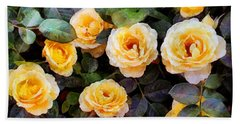 Pierre's Peach Roses Hand Towel