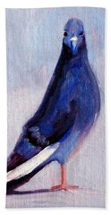 Pigeon Bird Portrait Painting Bath Towel