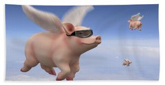 Pigs Fly Bath Towel