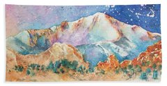 Pikes Peak Over The Garden Of The Gods Bath Towel