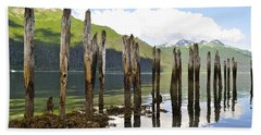 Bath Towel featuring the photograph Pilings by Cathy Mahnke