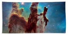 Pillars Of Creation In High Definition Cropped Bath Towel