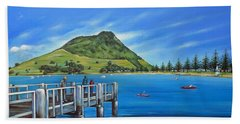 Pilot Bay Mt Maunganui 201214 Bath Towel by Selena Boron
