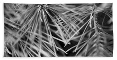 Pine Needle Abstract Bath Towel by Susan Stone