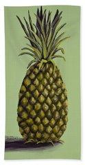 Pineapple On Green Bath Towel