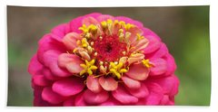 Bath Towel featuring the photograph Pink Floral  by Eunice Miller