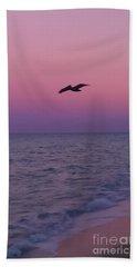Pink Beach Sunset Bath Towel