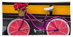 Pink Bike Hand Towel